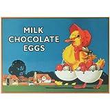 Milch Schokolade Eier Postkarte