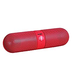 Essot Bluetooth Speakers Portable wireless surround sound speaker,Stereo speaker,High Definition Audio, Built-in Microphone The pill car outdoors speaker (Red)