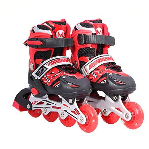 SKATE Patins à roues alignées sport réglables pour les enfants et les adultes, patins à roues alignées avec toutes les roues lumineuses pour filles et garçons Rouleau