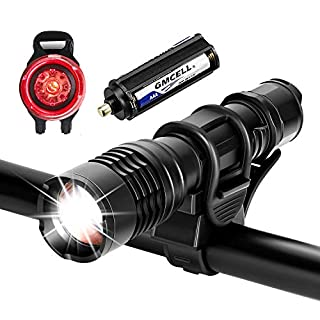 Akale Bike Light, Super Bright LED Bike Lights Set, 5 Modes, Waterproof Bicycle Lights, Easy to Mount Front Light Taillight Combinations LED Bicycle Light Set