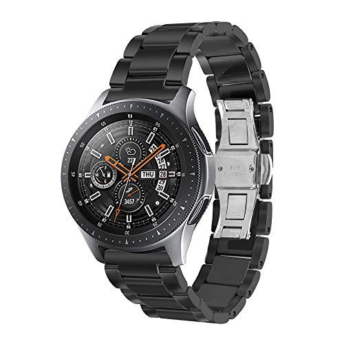 Aottom Kompatibel Armband für Galaxy Watch 46mm Keramik Armband Samsung Gear S3 Frontier Classic Keramik,Uhrenarmband 22mm Smartwatch Herren Ersatz Band für Samsung Galaxy Watch 46MM /Samsung Gear S3