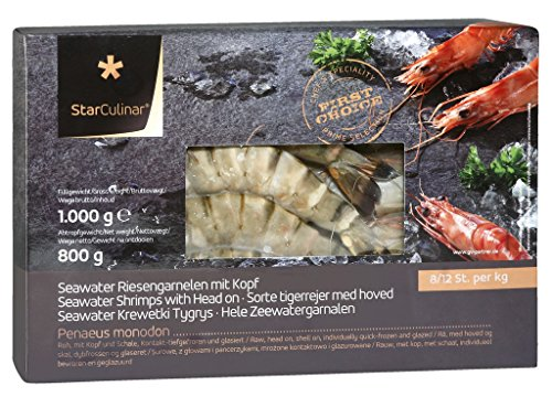 Star Culinar - TK Black-Tiger-Garnelen mit Kopf 8/12 - 800g/1000g
