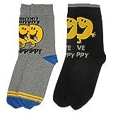Mr Men Y1H419 Mr Happy Men\'s Socks (Size 6-11, Pack of 2)