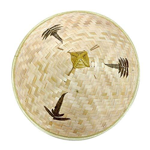 MonLook Chinesischer orientalischer vietnamesischer Straw Bamboo Farmer Fishing Sun Hat