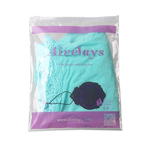 Aivelays Damen Reizwäsche Negligee Neckholder Dessous Nachtkleid V-Ausschnitt Spitze Lingerie Nachtwäsche Blue