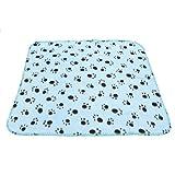 SODIAL(R) Haustierdecke Fleece Decke Hundedecke Tierdecke Katzen Heimtierdecke 60x70cm£¨hellblau£©