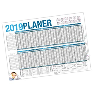itenga Urlaubsplaner 2019 Wandkalender DIN A2 (59,4 x 42,0 cm) 250 g/m² Personalplaner