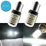 Grandview 2pcs Blanc 1156 LED Canbus P21W 1141 1003 BA15S 7506 Ampoules LED avec 114-3014-SMD 3250 Lumens Utilisés Uniquement pour les Clignotants de Voiture 6500K (CC 12V)