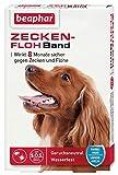 beaphar Zecken-Flohband Hund | Wirkt 8 Monate gegen Zecken und Flöhe | Ungezieferband mit SOS-Suchservice | Wasserfest | Farbe: Weiß | Länge: 60cm