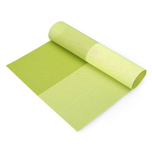 Générique Neuf respectueux de l'environnement Accessoires de Cuisine Mutil-Color Options antidérapant Isolation en PVC Café Coaster Set de Table ustensile de Cuisine Vaisselle Pad Vert