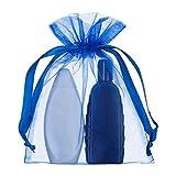 10 pièces Médium Sacs à Organza 15x20cm Bleu- Parfait pour une Fête de Mariage - Par Shingyo