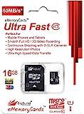 16GB Ultra schnelle 80MB/s Klasse 10 MicroSD SDHC Speicherkarte für Wiko LENNY 3 mobile | SD Adapter ist im Lieferumfang enthalten | BigBuild Technology