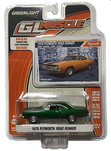 1970-plymouth-road-runner-greenlight-13160b-green-green-machine-164-die-cast