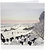 Pack of 6 Charity Christmas Cards (AB4274) - Fresians In Winter - In Aid of Shelter