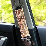 PUSHIDE 2 Stück Gute Qualität Auto Sicherheits Schulterpolster Schulterkissen Gurtpolster für Kinder und Erwachsene A