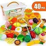 JoyGrow 40 Pezzi Tagliare i Giocattoli Taglio Frutta e Finti Alimenti, Set Gioco per Bambini, Gioco Educativo d'Apprendimento, Accessori Cucina per Bambini