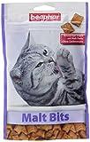 Malt Bits für Katzen | Leckerlis mit Malzpaste | Anti-Haarball bei Katzen | Ohne Zucker-Zusatz| 3 x 150 g Beutel