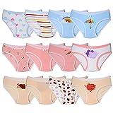 Kidear Série Enfants Culotte Culotte Culotte Enfant 12 Pièces sous-vêtements en Coton Doux pour Tout-Petit, âgés de 2 à 10 Ans (2-4 Ans, Style3)...