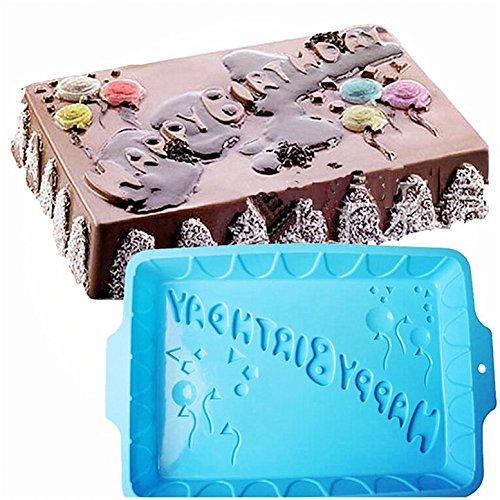 Premium Antiadherente Moldes para tartas, FantasyDay Moldes de Silicona para Caramelos, Chocolate, Hornear...