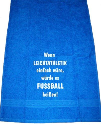 Wenn Leichtathletik einfach wäre, würde es Fußball heißen; Badetuch Sport, royalblau