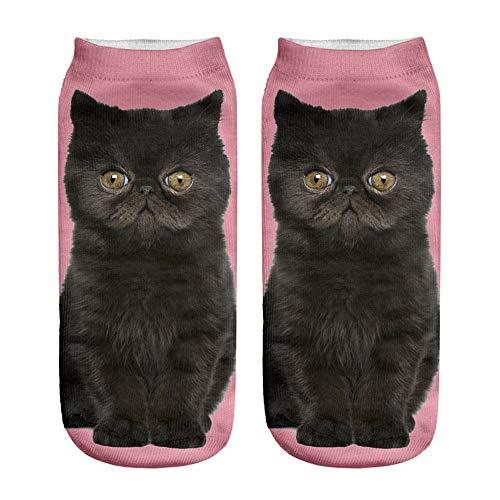 Knöchel-socke Stricken Muster (YWLINK Damen Herren Kurze Socken 3D Katze Weihnachten Drucken Beliebt Lustig Niedlich SchöN KnöChel Socken Casual Socken Geschenk Unisex Tierdruck)