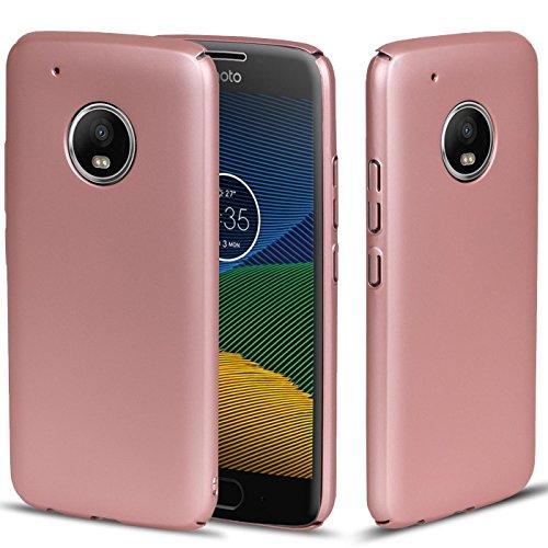 Motorola Moto C Plus Hülle, Rosegold Conie [Style Series] Soft Flex Case Ultradünn handyhüllen PC Bumper Cover Schutz Tasche Schale Schutzhülle für Moto C Plus hartschale dünn, Motorola Moto C Plus (5,0 Zoll (12,7 cm)