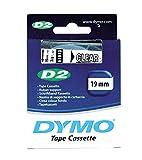DYMO 19mm D2 label tape - Cintas para impresoras de etiquetas (ampolla, 27 mm, 68 mm) Transparente