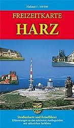 Freizeitkarte Harz: Topografische Strassenkarte mit Schummerung. Erläuterungen zu den schönsten Reisezielen mit zahlreichen Farbfotos