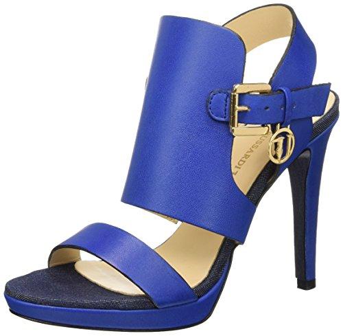 Trussardi Jeans 79S00249 Sandali a punta aperta, Donna, Blu (46 Bluette), 39