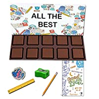 BOGATCHI All The Best Chocolate Gift for Exams, 10pcs Dark Chocolate + Free All The Best Card + Exam Kit for Kids
