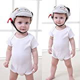 Baby Toddlers Head Protective , Baby Helmet Head Protector Adjustable Toddler Helmet Cap/Headguard Protective Harnesses Cap for Walking Crawling - 8- 60 Months (White)
