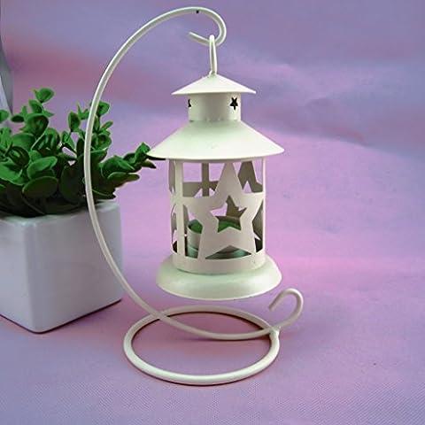 PortacandeleColazione continentale/Circolare/Fare clic su Sospendi candelabro/Romantico/Umore/Portacandele, bianco