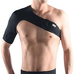 Pellor Verstellbare Schulterbandage Schwarz Links und Rechts (Schwarz-Rechts)