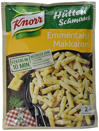 Knorr Hüttenschmaus Emmentaler Makkaroni Nudel-Fertiggericht 2 Portionen (3 x 500 ml)