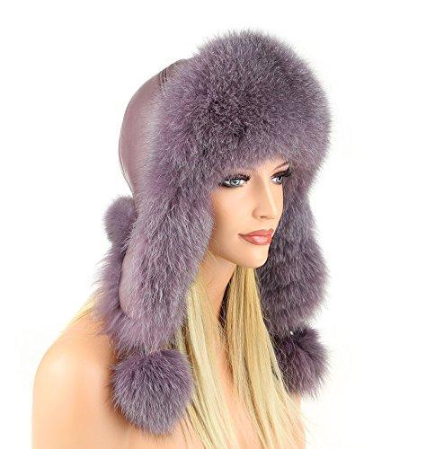 Da donna pelliccia berretto pelliccia volpe pelle berretto cappello da aviatore cappello invernale berretto da sci Fox Colbacco Polar cappello russo in vera pelliccia