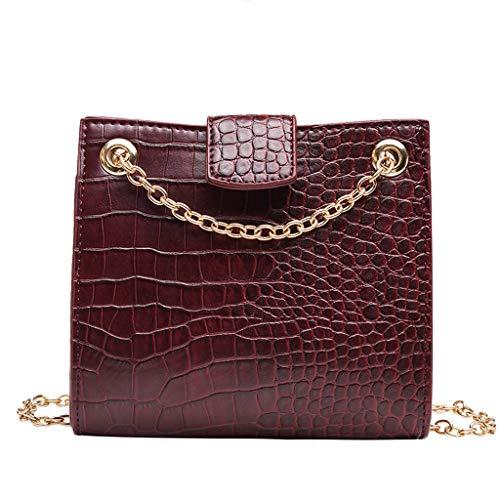 Ledertasche, Schultertasche, Geschenk, Handgefertigte Tasche,Mode Frauen Alligator Leder Umhängetaschen Messenger Bags Umhängetasche ()