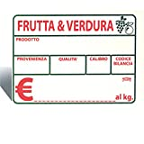 Conf. 10 Cartellini Segnaprezzo 140x100 mm Cancellabili In Pvc Per Ortofrutta Con Supporto A Tenaglia Reggi Cartello