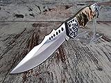 Coltello da caccia a serramanico, tascabile, pieghevole–Deer Hunting Knife Coltello con motivo anatra