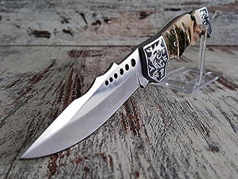 Magnifique Waidmanns chasse couteau de poche–Étui de couteau pliant–Dear Hunter Knife avec motif canards