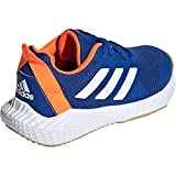 adidas Unisex-Child Fortagym K Indoor Court Shoe, Collegiate Royal/Cloud White/Solar Orange, 36.5 EU