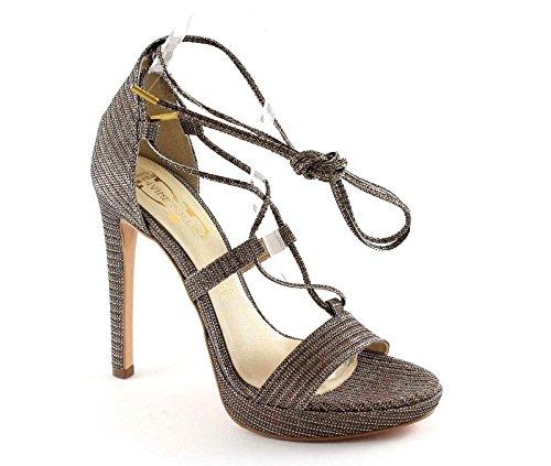 DIVINE FOLIE 6534 sandales à talons en bronze scintillent lacets élégantes Metalizzato