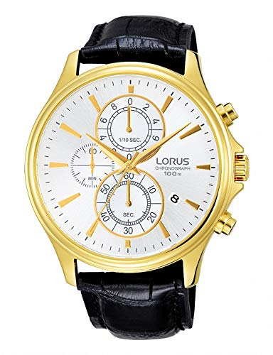 Lorus Gents Chronograph Gold Plated Strap Watch