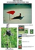 Hollysun Beachway-scomparti-ombrellone - rosso + in alluminio da pavimento mult + Exklusiv rivestiti con poliestere 160 G/m² - ZANGENBERG-HUSUM + tavolo - sedia - balcone fermagli 59 SC con protezione in gomma copripunta + Windtampen - innovazioni MADE in GERMANY - HOLLY prodotti STABIELO - HOLLY-parasole