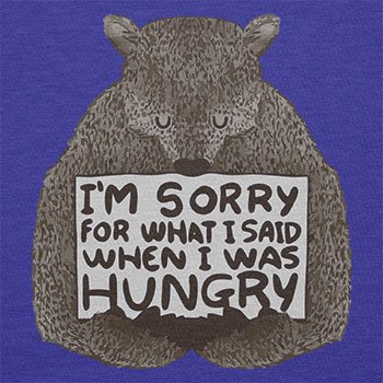 NERDO - I'm sorry for what I said when I was hungry - Damen T-Shirt Marine