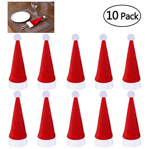 Preisvergleich Produktbild NICEXMAS 10 stücke Messer Löffel Gabel Taschen Rostfrei Geschirr Taschen Besteck Halter Geschirr für Weihnachten