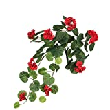 MICA Decorations 1005424 Geranium Rot - L63cm Kunstpflanze, Polyester, 63 x 24 x 24 cm
