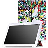 MoKo Lenovo Tab2 A10-70 Funda - Ultra Slim Lightweight Smart-shell Stand Cover Funda para Lenovo Tab2 A10-70 10 inch 2015 Version,Lenovo Tab 2 A10-30(TB2-X30F), Lucky Tree
