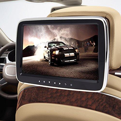Ultra mince HD digitl 25,4cm voiture appuie-tête Moniteur Hi-Fi stéréo voiture MP5Lecteur Vidéo 1080p de Vue Large écran LCD avec carte SD USB FM Audio Amplificateur intégré Casque Hi-Fi