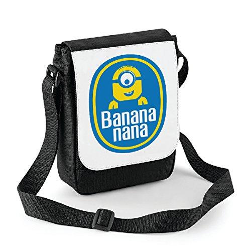 Mini borsa a tracolla Banana nana - Minions parody - idea regalo -tracolla regolabile - misura 18x22 cm Bianco Ebay Precio Barato 89myGjDs
