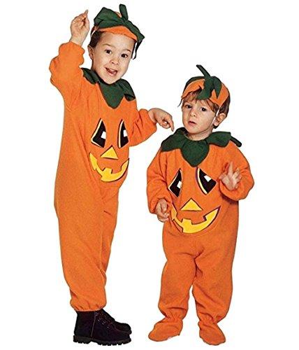 Taglia 104-2 - 3 anni - costume - travestimento - carnevale - halloween - zucca - vegetale - colore arancione - bambino